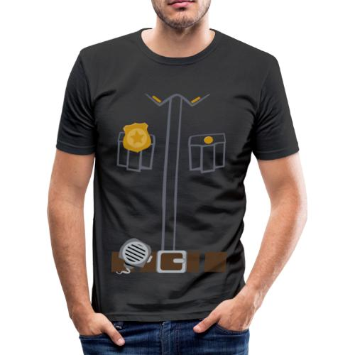 Police Tee Black edition - Men's Slim Fit T-Shirt