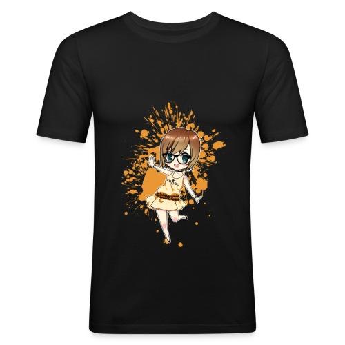 Luuva-Chibi-yellow - Männer Slim Fit T-Shirt