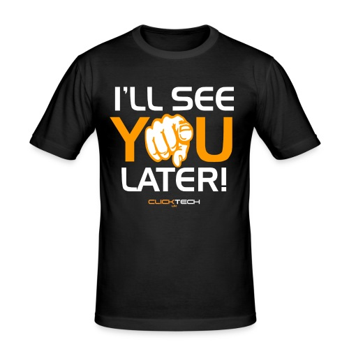 ClickTech UK See You Later Orange White - Men's Slim Fit T-Shirt