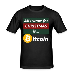 Bitcoin Christmas Style - Männer Slim Fit T-Shirt