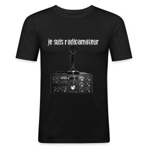 Je suis radioamateur - Tee shirt près du corps Homme