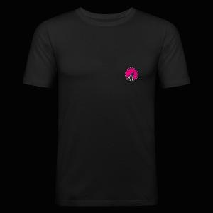 Logo cercle magenta - Tee shirt près du corps Homme