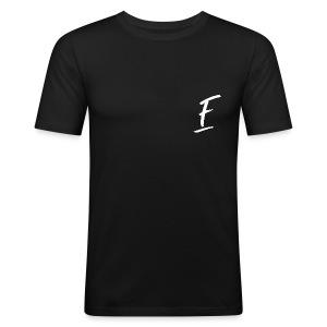 Radio Fugue F Blanc - Tee shirt près du corps Homme