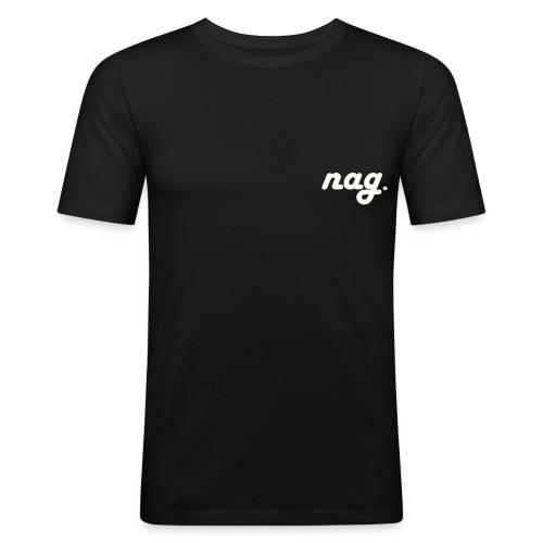nag Classic S18 white/gold - Männer Slim Fit T-Shirt