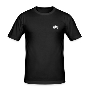 Quad Logo - Männer Slim Fit T-Shirt