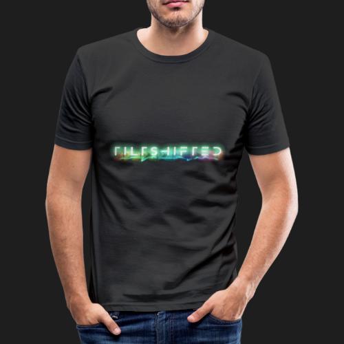 TiltShifted Logo on Black - Miesten tyköistuva t-paita