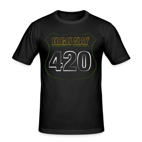 HIGHWAY420 - Männer Slim Fit T-Shirt