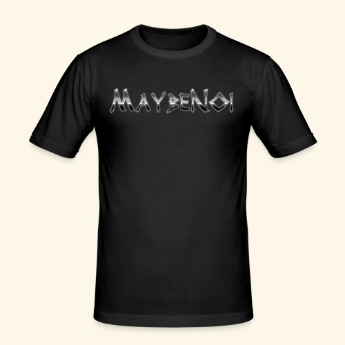 Stone Logo - Männer Slim Fit T-Shirt