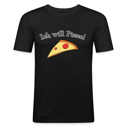 Ich will Pizza das Design zum Kartenspiel - Männer Slim Fit T-Shirt