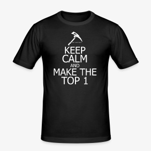 KEEP CALM AND MAKE THE TOP 1 Fortnite edition - Tee shirt près du corps Homme