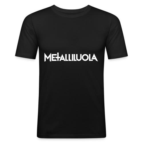 Metalliluola logo - Miesten tyköistuva t-paita