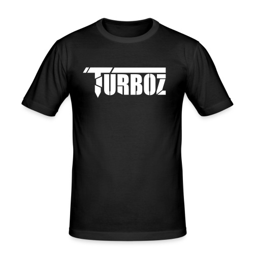 Turboz logo white text - Men's Slim Fit T-Shirt