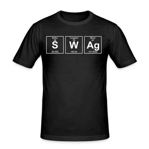 Periodensystem SWAG - Männer Slim Fit T-Shirt