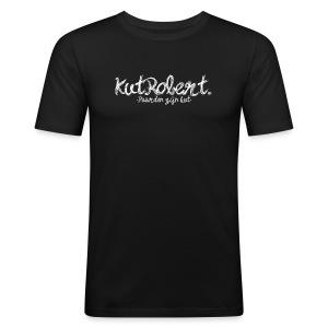 KutRobert. met qoute. - slim fit T-shirt