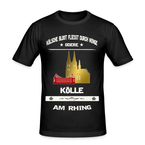 Koelsche Bloot - Köln am Rhein - Männer Slim Fit T-Shirt
