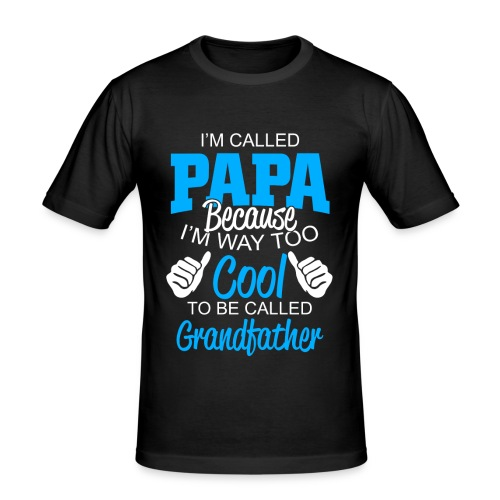 01 im called papa copy - T-shirt près du corps Homme