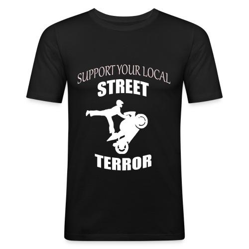 Streetterror Support - Miesten tyköistuva t-paita