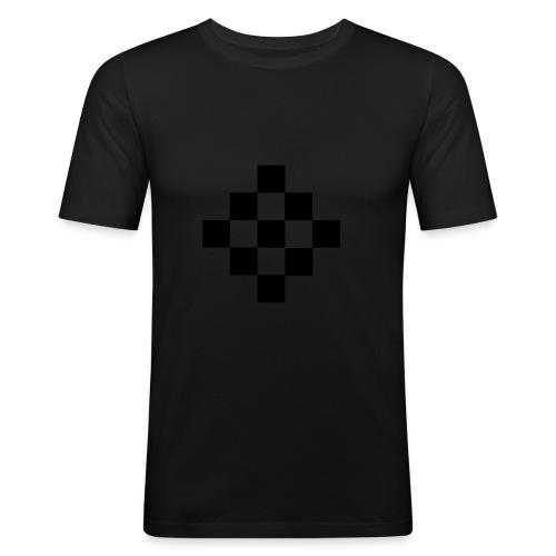 quadrillage - T-shirt près du corps Homme