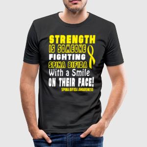 Spina Bifida Awareness! Fighting with a Smile! - Men's Slim Fit T-Shirt