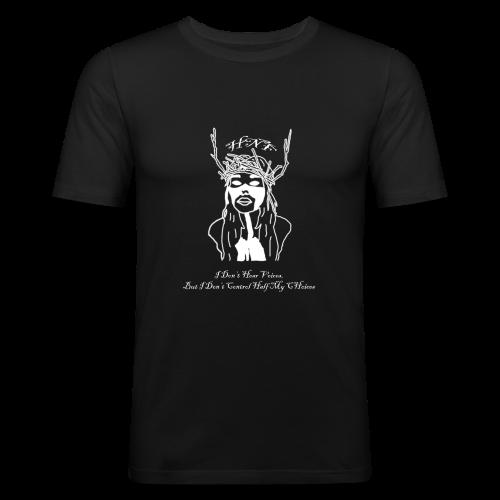 i don hear voices - Men's Slim Fit T-Shirt