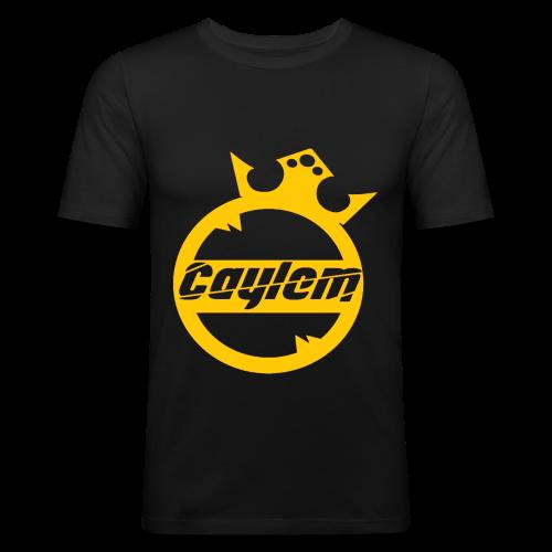 Caylem Logo Gold - Männer Slim Fit T-Shirt