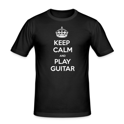 Keep Calm And Play Guitar - Maglietta aderente da uomo