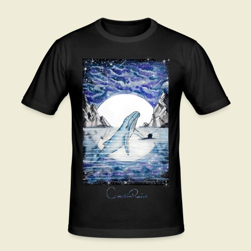 humpback whale - Men's Slim Fit T-Shirt