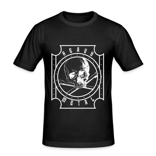 Heavy Metal Skull White - Männer Slim Fit T-Shirt