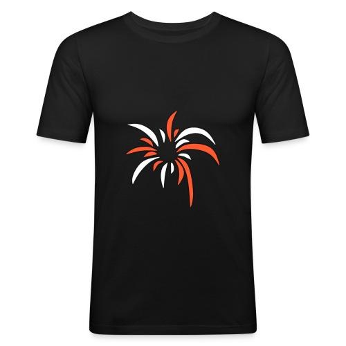 PyroPaco Explosions Logo - Männer Slim Fit T-Shirt