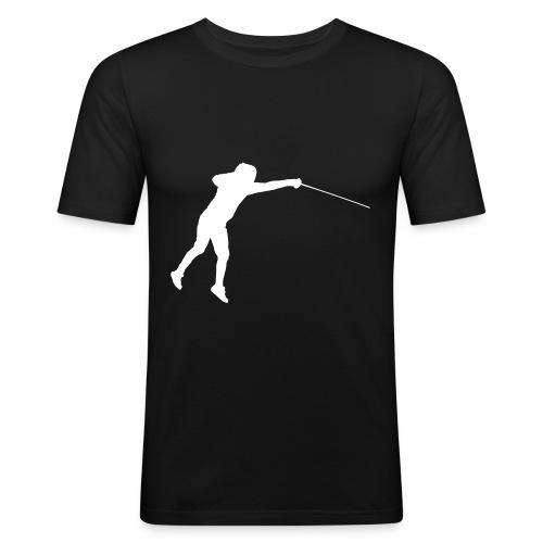 Jumping Fencer - Männer Slim Fit T-Shirt