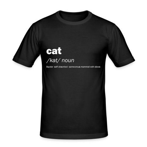 Cat definition and meaning - Funny - Men's Slim Fit T-Shirt