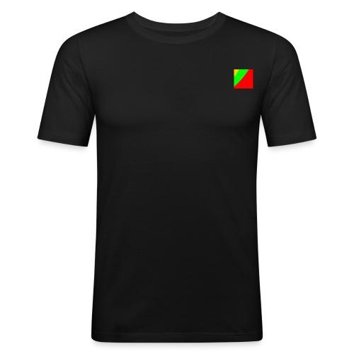Lithuania Square - Men's Slim Fit T-Shirt