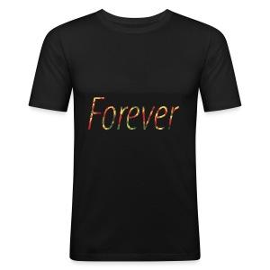 Forever Clothing Black Flowers T-shirt Men - slim fit T-shirt