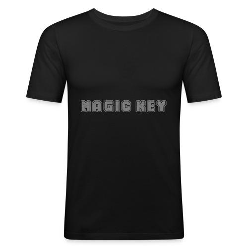 Magic Key - Männer Slim Fit T-Shirt