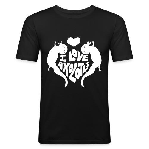 I Love Axolotls - Men's Slim Fit T-Shirt