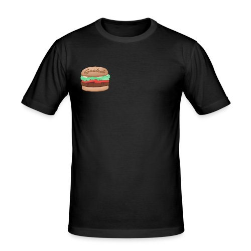 GEEKD BURGER SERIES - Männer Slim Fit T-Shirt
