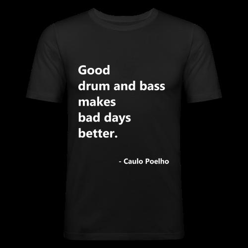 GOOD DNB - Obcisła koszulka męska