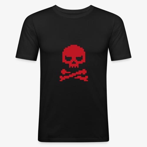 Lords of Uptime Skull - Männer Slim Fit T-Shirt