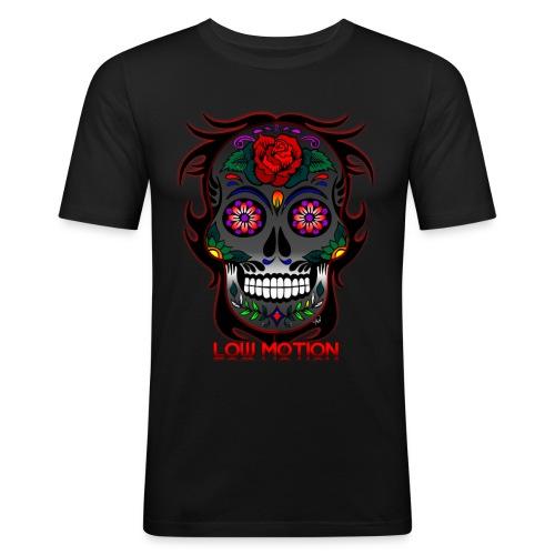 Low Motion Face Gray - Camiseta ajustada hombre