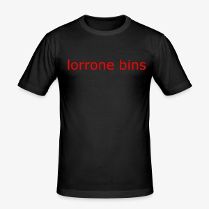 lorrone bins simple - Men's Slim Fit T-Shirt