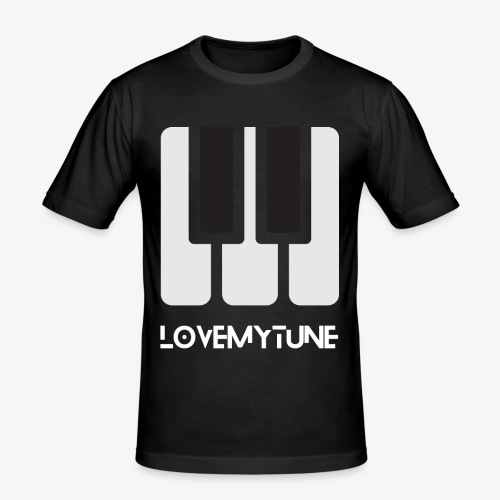 Love My Tune - Obcisła koszulka męska
