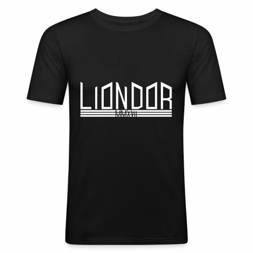 LD_Jagged_white - Männer Slim Fit T-Shirt