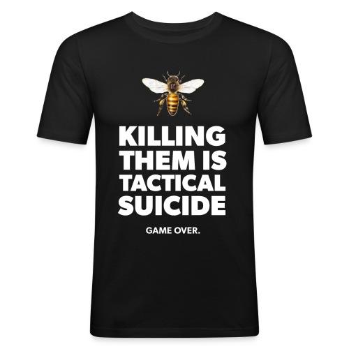 Ein Statement für die Bienen - Männer Slim Fit T-Shirt