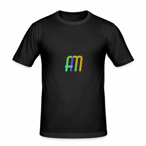 AM Logo - Men's Slim Fit T-Shirt