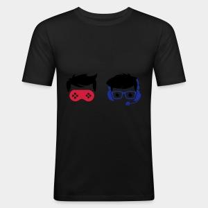 Nerd and Geek - Logo Bunt ohne Schriftzug - Männer Slim Fit T-Shirt