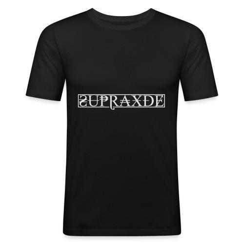 SupraxDE Logo Weiß - Männer Slim Fit T-Shirt