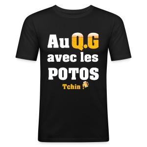 Tous au QG !!! - Tee shirt près du corps Homme