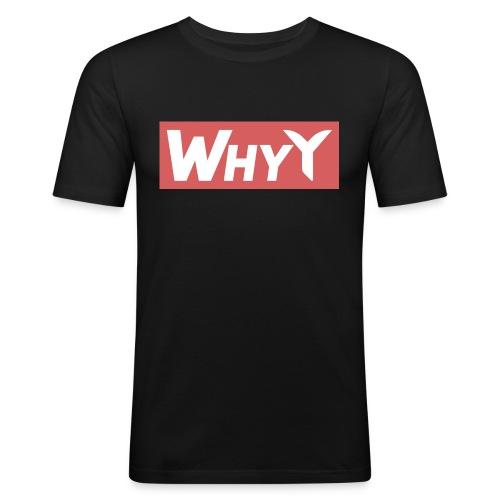 Block Red | WhyY - Men's Slim Fit T-Shirt