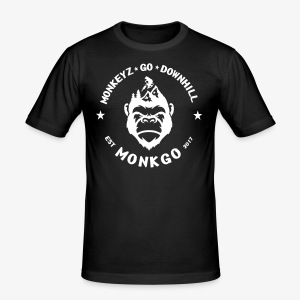 MonkGo Circle - Männer Slim Fit T-Shirt