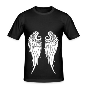 whitewings-ai - Men's Slim Fit T-Shirt